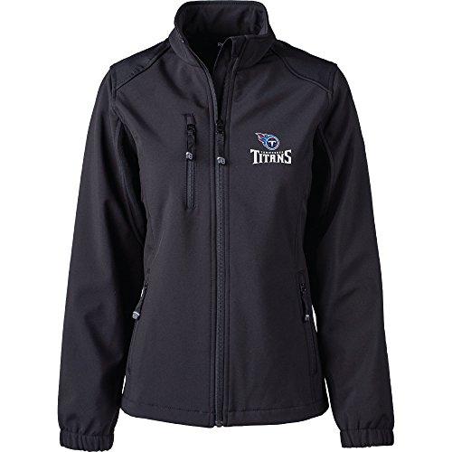 Dunbrooke Apparel NFL Tennessee Titans Women's Softshell Jacket, X-Large, Black (Nfl Womens Apparel)