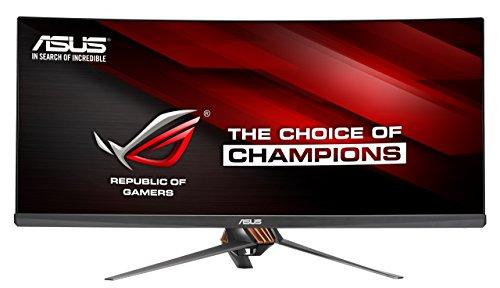 Asus ROG PG348Q 86,7cm (34 Zoll) Curved Gaming Monitor (UWQHD, DisplayPort, HDMI, USB 3.0, 5ms Reaktionszeit, G-Sync) Kupfer / Titan