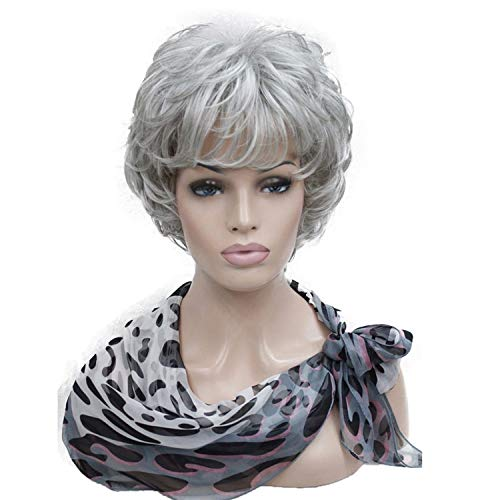 Short Soft Tousled Curls Wig Auburn,Dark Brown Full Synthetic ()