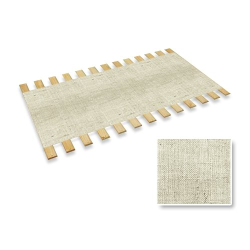 New Twin Size Custom Width Bed Slats with a White Burlap Fabric Roll - Choose your needed size - Eliminates the need for a link spring or box spring!