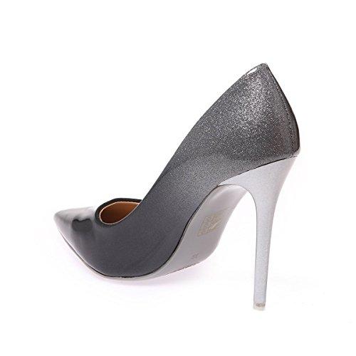 Material Vestir Mujer Zapatos Gris Sintético Modeuse De La TxIawR
