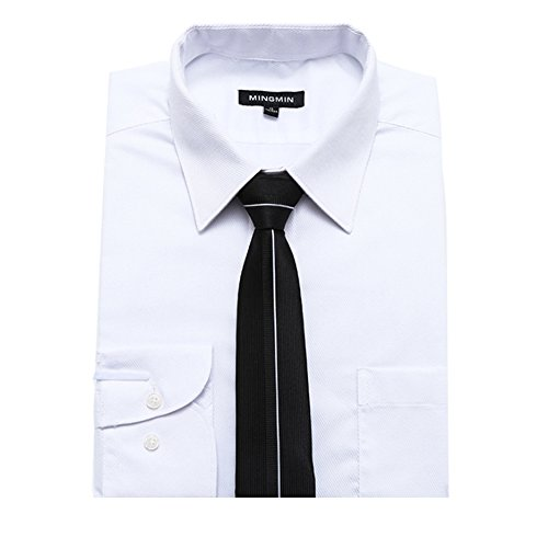 Necktie Silk Blend Black MIAOWANG Box Gift Men with Patchwork Polyester Neck Tie 5fwpxxq7