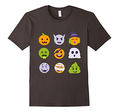 Out Of The Ordinary Halloween Costumes (Mens Halloween Emoji T-Shirt / Tee Costume Funny Emoticons Scary 3XL Asphalt)