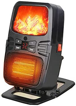 立ち電気暖炉炎効果壁掛けポータブルインテリジェントヒータータイミング機能家庭用暖房黒