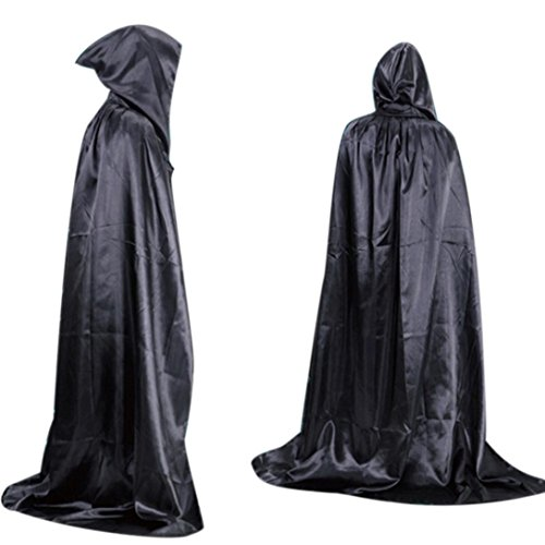 [Hatop Halloween Death Cloak Cloak Adult long Section Of Mopping The Floor Masquerade (Black)] (Lord Of The Rings Elf Costume Patterns)