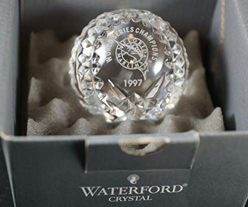 FLORIDA MARLINS 1997 World Series WS Champs WATERFORD Crystal Baseball - MLB Unsigned Miscellaneous (Waterford-shops)