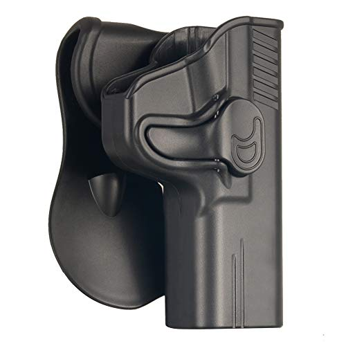 S&W M&P 9MM Full Size Holster, OWB Holster For Smith & Wesson MP 9MM/40S&W SD9VE SD40VE M2.0 Compact(NO SHIELD), Polymer Outside The Waistband Carry Belt Holster With 360° Adjustable Paddle-Right Hand