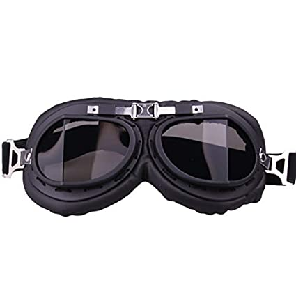 0054c6533e XuBa Unique Vintage Motorcycle Goggle Motocross Pilot Riding Goggles for  Outdoor Gray for Adults Men and Women  Amazon.in  Car   Motorbike