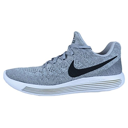 Scarpa da running Nike Mens Lunarepic Low Flyknit 2 Wolf Grigio / Nero / Grigio freddo 9 Uomo Stati Uniti