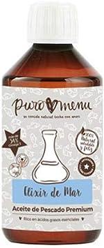 Aceite de Pescado 100% Natural (250ml)| de Sardina, Arenque y Caballa | Alternativa al Aceite de Salmón | Rico en Omega3 (34%) | Ideal Dietas Barf | Una Botella (250ml)