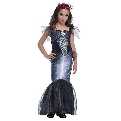 [Girl Dark Siren / Mermaid Halloween Costume Large (10-12)] (Siren Costume Halloween)