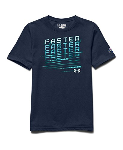 Under Armour Big Boys' NFL Combine Authentic Faster T-Shirt Youth Large Academy