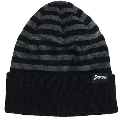 ダンロップ スリクソン ニットキャップ(ニット帽)SXH4465 ブラック [DUNLOP SRIXON 防寒 ]