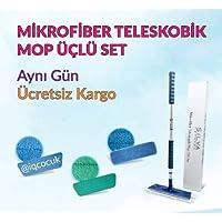 Silva Mikrofiber Teleskopik Mop 3'Lü Set