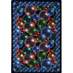 Joy Carpets Bubbles (Joy Carpets Kaleidoscope Bubbles Whimsical Area Rugs, 46-Inch by 64-Inch by 0.36-Inch, Rainbow)