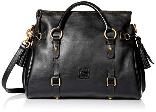 - Dooney & Bourke Florentine Vachetta Satchel, Black Trim