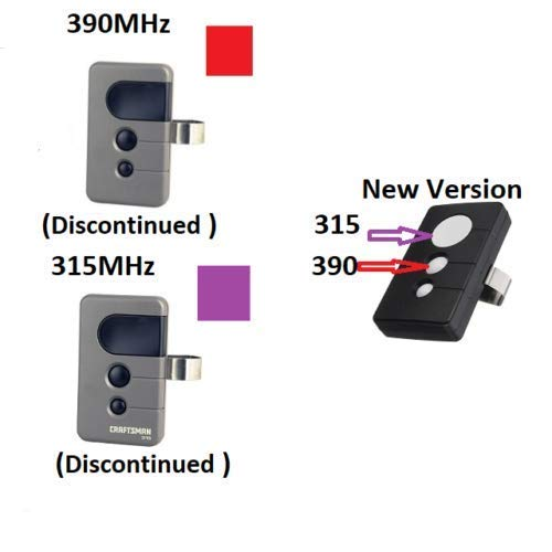 Sears Craftsman 139.53753 139.53681B 139.53680 Garage Door Opener Remote 315 M Purple Learn Button and Red Learn Button