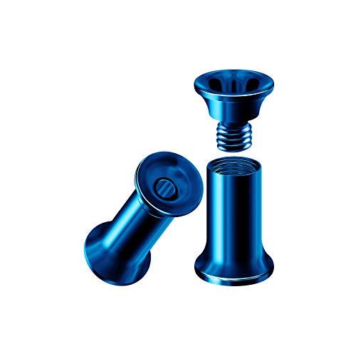 BIG GAUGES Pair of Steel Dark Blue PVD Anodized 6gauges 4 mm Internally Threaded Flesh Tunnels Piercing Stretcher Ear Lobe Plugs BG3806