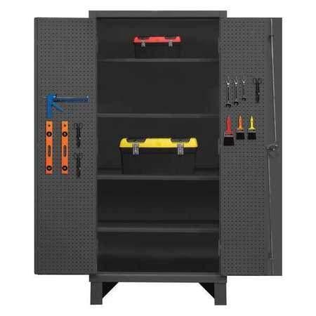 Durham HDCP246078-PB32-4S95 Cabinet, 24X60, 4 Shelf, 32 peg Hooks