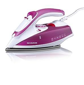 Severin 3243 - Plancha de 2400 W (suela acero inox. vapor variable hasta 30 gr/m y hasta 70 gr/m en planchado vertical), rosa