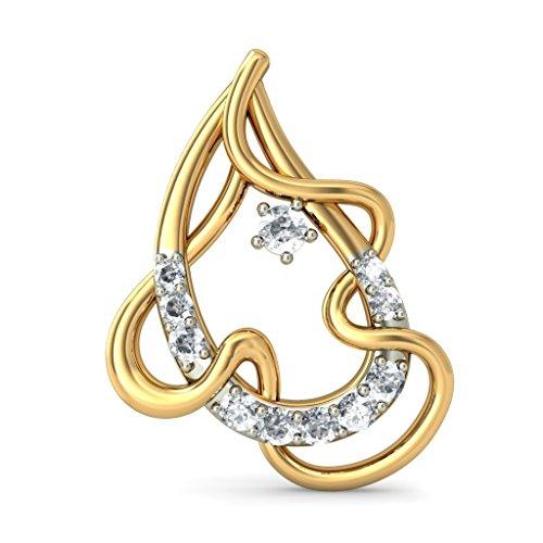 Or jaune 18K 0,19CT TW White-diamond (IJ | SI) Boucles d'oreille à tige