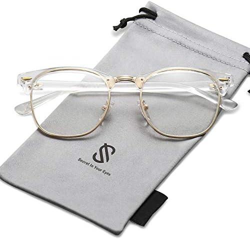 SOJOS Clubmaster Rimless Polarized Sunglasses product image