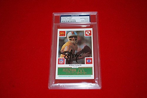 STEVE YOUNG san francisco 49ers signed 1986 scratchoff mc...