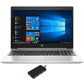 """HP ProBook 450 G6 Home and Business Laptop (Intel i5-8265U 4-Core, 16GB RAM, 512GB m.2 SATA SSD, Intel UHD 620, 15.6"""" HD (1366x768), WiFi, Bluetooth, Webcam, 2xUSB 3.1, Win 10 Pro) with USB Hub"""