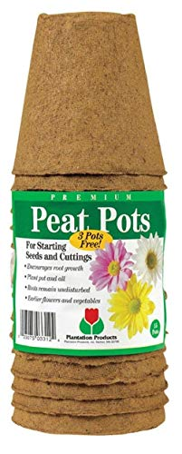 HIGH Germination Seeds:Plantation Products Round Peat Pots 3