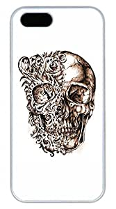 iPhone 5 5S Case Cool Skull 15 Funny Lovely Best Cool Customize iPhone 5S Cover White