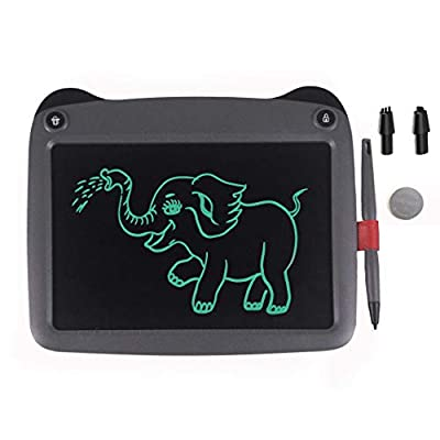 mom&myaboys LCD Writing Tablet for Kids Toys for 3-12 Years Old Girls, 9 inch Drawing and Writing Board with Lock Erase Button for Adults for School and Office(Grey): Office Products
