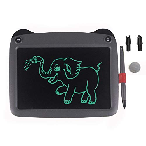 mom&myaboys LCD Writing Tablet for Kids Toys for 3-12 Years Old Girls, 9 inch Drawing and Writing Board with Lock Erase Button for Adults for School and Office(Grey)
