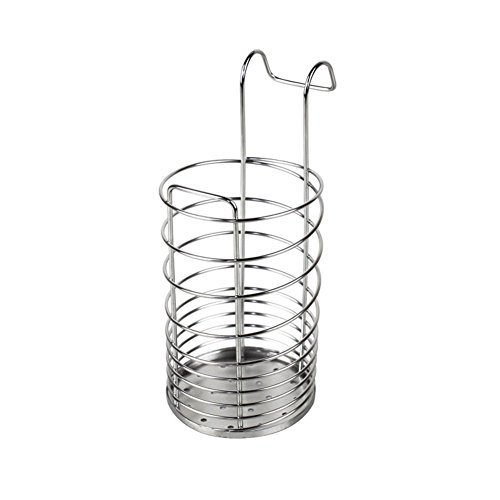 (304 Stainless Steel Utensil Drying Rack/Chopsticks/Spoon/Fork/Knife Drainer Basket Flatware Storage Drainer (Round))