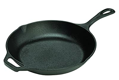 Lodge LCS3 Cast Iron Chef's Skillet, Pre-Seasoned, 10-inch