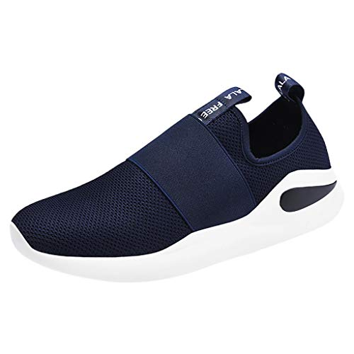 JJLIKER Mens Sneakers Ultra Lightweight Breathable Mesh Street Sport Walking Running Gym Athletic Casual Comfort Slip-on ()