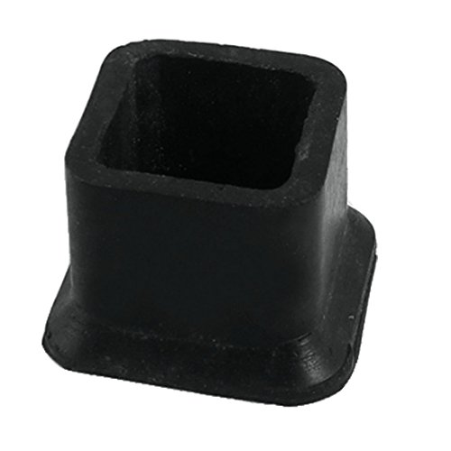 Fly Shop Square Rubber Covers Furniture Protectors 1 Inch x 1 Inch Black - Shops Square One