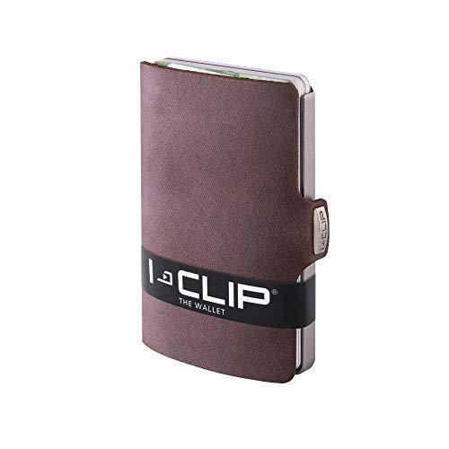 I-CLIP - Soft Touch (Brown) - Slim Wallet - Minimalist, Thin Design & Money Clip