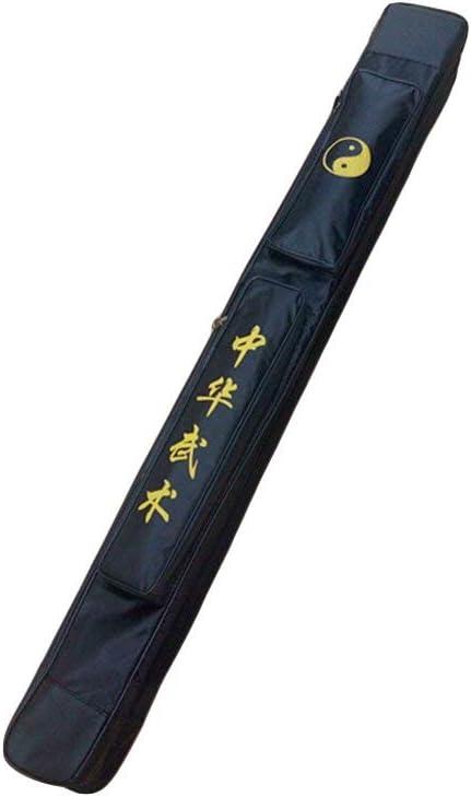 SOFIALXC Bolsa para Llevar la Espada de Taichi - Bolsa para la Espada de Kung Fu Chino Estuche de una y Doble Capa Estuche de Armas de los Artes Marciales Bolso de la Bolsa de Kung Fu,Doubleblack