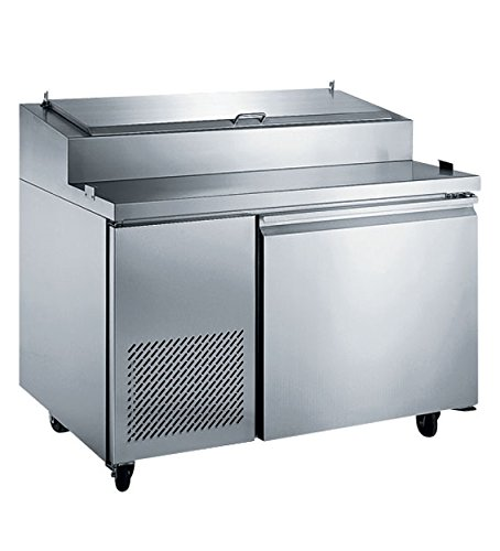 EQ Kitchen Line PICL1 1 Door Pizza Prep Table Refrigerator, 103 gal , 42.87