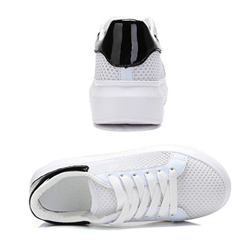 Junior Pink 38 Chaussures Black Mesh School Femme Tissu Étudiants Été High White Sports Taille couleur Blanc Hwf ZOH1xOX
