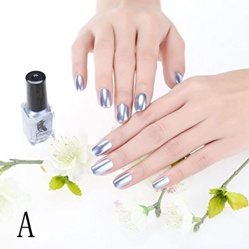 Inverlee Mirror Nail Polish Plating Silver Paste Metal Color