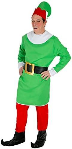 Chaks c4156l, disfraz de gnomo elfo hombre, adulto talla L: Amazon ...