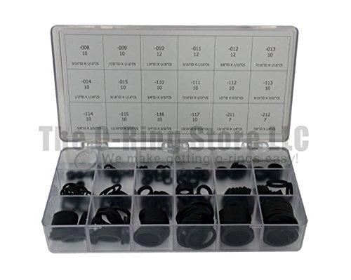 Square Buna-N O-ring Kit 180 Piece 18 Sizes