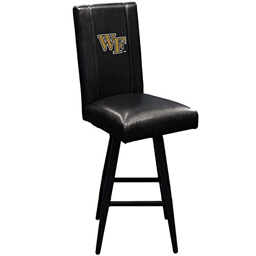 XZipit College Bar Stool Swivel 2000 with Wake Forest Demon Deacons Logo Panel, Black