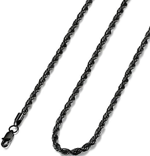 FUNRUN JEWELRY - Cadena de acero inoxidable para hombre y ...