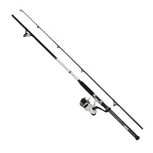 (Daiwa DWB40-B/F802M D-Wave Saltwater Spinning Combo, 1 Bearing, 8' Length, 2Piece Rod, Medium Power, Fiberglass Blank)