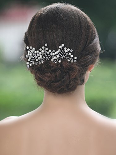 7ecd4d326058 Unicra Bridal Wedding Hair Pins and Hair Accessories for Women and Girls ( Pack of 3