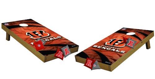 Wild Sports NFL Cincinnati Bengals Tailgate Toss Tournament Cornhole Set, Medium, Multicolor