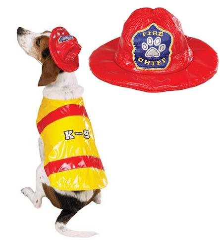 Fire Chief Dog Costume (Zack & Zoey Pawfield Fire Chief Costume Med)