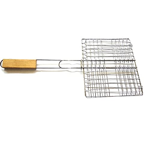 Barbecue Grilling Basket Stainless Steel Grilling Tool BBQ Net Barbecue Mesh - for Outdoor Picnic Roasting Cooker Wood - Woods Mesh